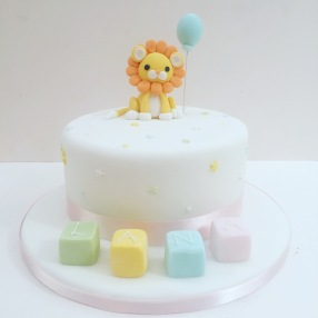 Lion First Birthday Cake